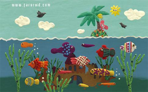 Plasticine ocean - والپیپر اقیانوس اندروید
