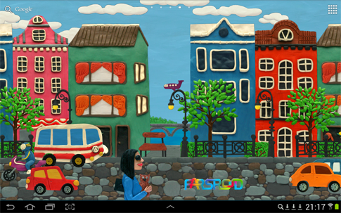 Download Plasticine town Live wallpaper Android APK - NEW