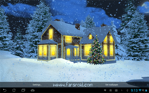 Snow HD Deluxe Edition Android - لایو والپیپر Snow HD Deluxe Edition اندروید