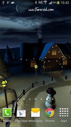 Winter 3D, True Weather Andriod  برنامه آندروید - والپیپر جدید