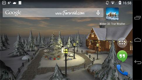 دانلود Winter 3D, True Weather - والپیپر واقعی زمستان اندروید